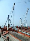 Fishing boat at jetty in Chonburi Stock Photography