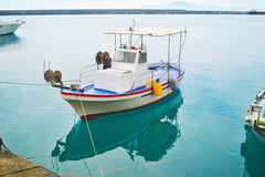 Fishing boat at Kalamata port Peloponnese Greece Royalty Free Stock Photo