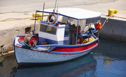 Fishing boat at Kissamos port in Crete. Greece Royalty Free Stock Image
