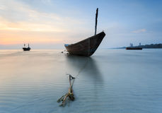 The fishing boat at Kon Ao Beach, Rayong, Thailand Stock Image