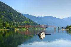 Fishing boat on Kootenay Lake. Royalty Free Stock Photos