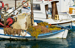 Fishing boat, Kos island Greece Stock Images