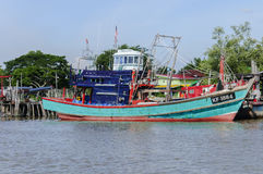 Fishing boat. Kuala Kedah, Malaysia. 1st December 2016. A fishing boat is getting ready to go out to sea Stock Photo