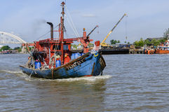 Fishing boat. Kuala Kedah, Malaysia. 1st December 2016. A fishing boat on the way out to sea Stock Photos