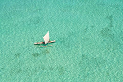 Fishing boat in the lagoon Royalty Free Stock Photography