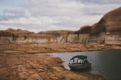 Fishing Boat on Lake Powell Royalty Free Stock Photo