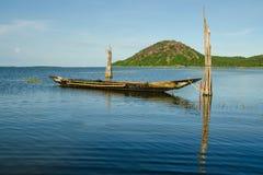 Fishing  boat and landscape at chilika lake odisha