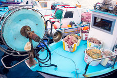 Fishing boat in Larnaca harbour, Cyprus Royalty Free Stock Photography