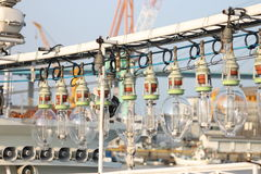 Fishing Boat Light Bulbs Stock Photos