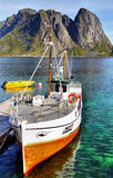 Fishing Boat, Lofoten Royalty Free Stock Images