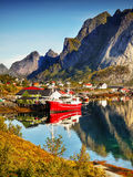 Fishing Boat, Lofoten Stock Images