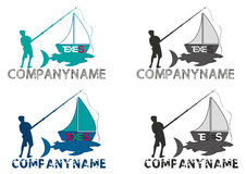 Fishing boat logo Royalty Free Stock Photography