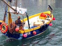Fishing boat, Looe, Cornwall. Fishing boat returning to Looe, Cornwall, UK Stock Photography