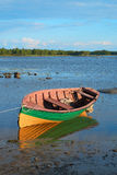 Fishing boat at low tide Royalty Free Stock Photos
