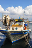 Fishing boat in marina Royalty Free Stock Photo