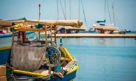 Fishing boat in Marsaxlokk Royalty Free Stock Image
