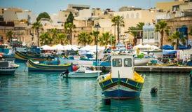 Fishing boat in Marsaxlokk Stock Photography