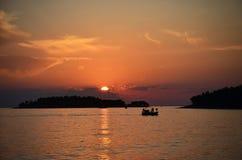 Fishing Boat in Mediterranean sea Stock Image