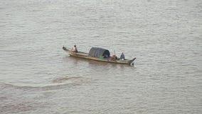 Fishing boat,  mekong , cambodia, southeast asia Royalty Free Stock Photo