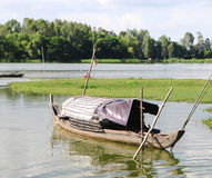 Fishing boat on Mekong river Stock Photos