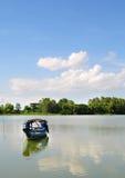 Fishing boat on Mekong river Stock Photos
