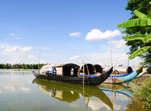 Fishing boat on Mekong river Royalty Free Stock Image