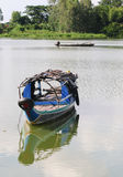Fishing boat on Mekong river Stock Photography