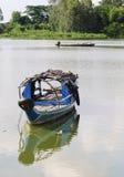 Fishing boat on Mekong river Stock Photography