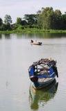 Fishing boat on Mekong river Stock Image