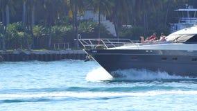Fishing boat in Miami 4k stock footage