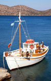 Fishing boat in Mirabello Bay, Crete,Greece Royalty Free Stock Photo
