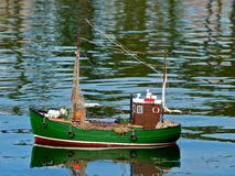 Fishing Boat Model Stock Image