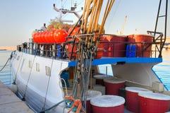 Fishing boat. Monopoli. Puglia. Italy. Stock Photo