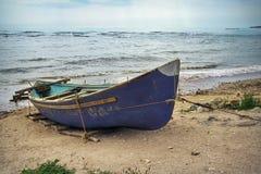 Black Sea. Fishing boat. Seascape. Fishing boat moored at Black Sea. Seascape stock photo