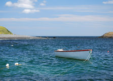 Fishing boat moored at sea Royalty Free Stock Images