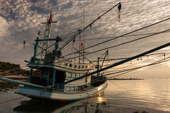 Fishing boat. Moored up in quiet waters on Koh Pangan, Thailand Stock Image