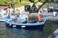 Fishing boat mooring Stock Image