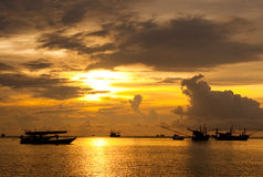 Fishing boat. Morning Fishing boat in Thailand Royalty Free Stock Image