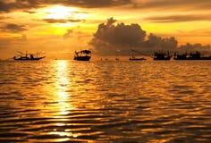 Fishing boat. Morning Fishing boat in Thailand Stock Photography