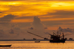 Fishing boat. Morning Fishing boat in Thailand Royalty Free Stock Photos
