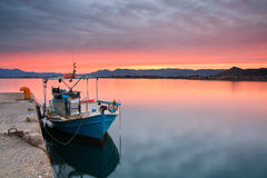 Fishing boat in Nafplio, Greece. Stock Images