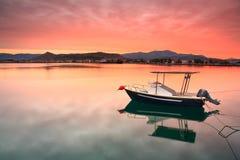 Fishing boat in Nafplio, Greece. Stock Photo