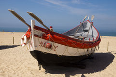 Fishing boat Nazare Portugal Stock Images