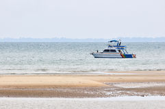 Fishing boat near the beach Royalty Free Stock Image