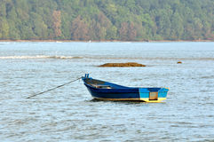 Fishing boat near the beach Stock Photography