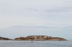 Fishing boat near calanques coast, Marseille, France Stock Image