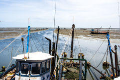 Fishing boat  near coast Royalty Free Stock Image