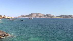 Fishing boat. Near Keros island, Greece stock video footage