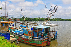 Fishing boat, Negombo Sri Lanka stock photography