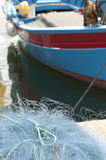 Fishing Boat and nets Stock Photo